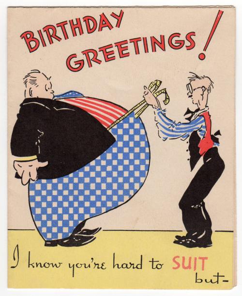 Birthday greetings hard to SUIT