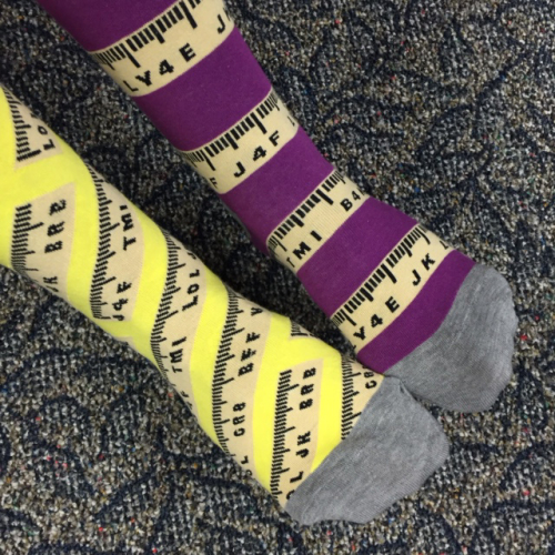 Ruler socks 2016-10-7 A