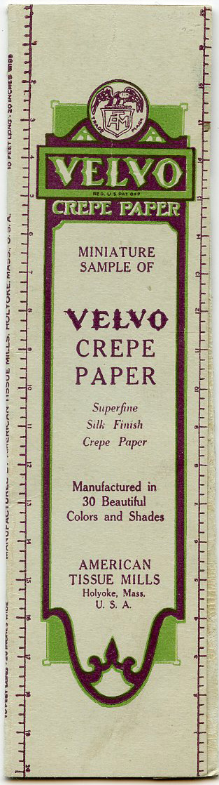 VELVO crepe paper miniature sample wrapper