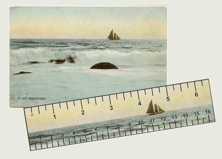 Postcard ruler combo
