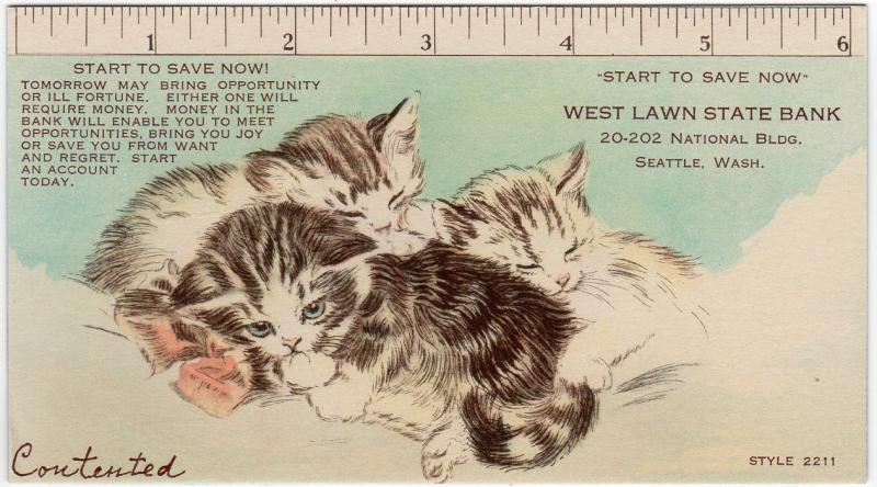 Kittens--WestLawnStateBank-Seattle