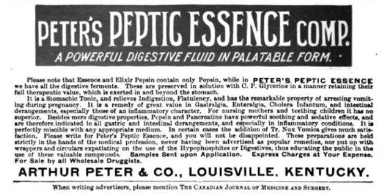 PetersPepticEssence-ad-CanadJournalMedSurg-1901